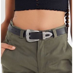 Urban outfitter Ecote metal tipped leather belt